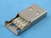 Вилка на кабель USB-AM 4pin, под пайку, в пластиковом корпусе, USBAM-SPB