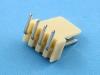 Вилка на плату WF-04R (MX) угловая, 4 контактов, шаг 2.54мм, HSM W2600-04PRYTC0R