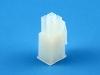 Корпус разъема MFB-2x02F, шаг 4.14х4.14мм, 5А, 300В, белая, HSM H1110-04PDAW00R
