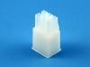 Корпус разъема MFB-2x03F, шаг 4.14х4.14мм, 5А, 300В, белая, HSM H1110-06PDAW00R